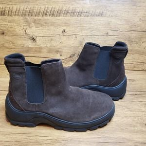 Jeep Womens brown suede leather chelsea boot